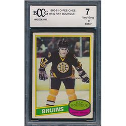 1980-81 O-Pee-Chee #140 Ray Bourque RC (BCCG 7)