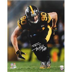 T. J. Watt Signed Steelers 16x20 Photo (JSA COA)