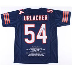 "Brian Urlacher Signed Bears Career Highlight Jersey Inscribed ""HOF 2018"" (JSA COA)"
