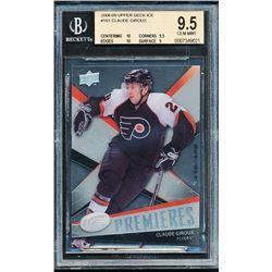 2008-09 Upper Deck Ice #161 Claude Giroux RC (BGS 9.5)