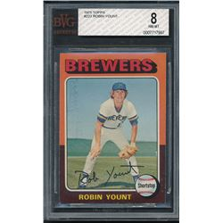 1975 Topps #223 Robin Yount RC (BVG 8)
