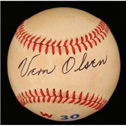 Vern Olsen Signed ONL Baseball (JSA COA)