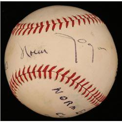 "Norm Gigon Signed OL Baseball Inscribed ""Best Wishes"" (JSA COA)"