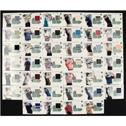 2002 SP Authentic Course Classics Game-Used Shirt Near-Complete Set of (40/42) Golf Cards with #CCTW
