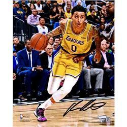 "Kyle Kuzma Signed Lakers ""Driving Layup"" 8x10 Photo (Fanatics Hologram)"