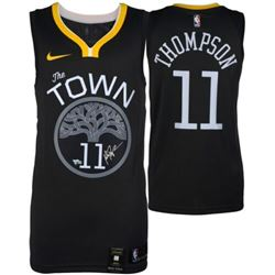 """Klay Thompson Signed Warriors """"The Town"""" Statement Edition Nike Jersey (Fanatics Hologram)"""