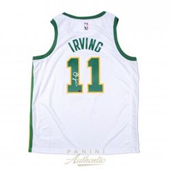 Kyrie Irving Signed Celtics Nike City Edition Jersey (Panini COA)