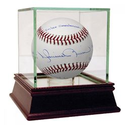 "Mariano Rivera Signed Limited Edition Baseball Inscribed ""More Men Walked on the Moon than Postseaso"