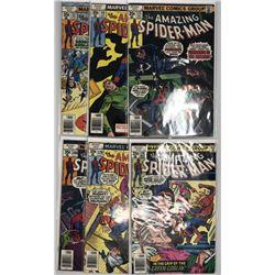 Lot of (6) 1977-78 Marvel Amazing Spider-Man 1st Series Comic Books