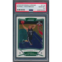 2008-09 Bowman Chrome #114 Russell Westbrook RC (PSA 10)