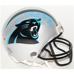 Steve Smith Sr. Signed Panthers Mini-Helmet (Radtke COA)