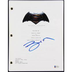"""Ben Affleck Signed """"Batman v Superman: Dawn of Justice"""" Full Movie Script (Beckett COA)"""