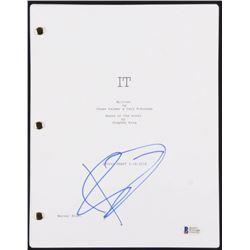 """Bill Skarsgard Signed """"It: Chapter 1"""" Full Movie Script (Beckett COA)"""