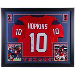 DeAndre Hopkins Signed Houston Texans 35x43 Custom Framed Jersey (JSA COA)