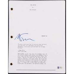 "Martin Scorsese Signed ""Taxi Driver"" Movie Script (Beckett COA)"