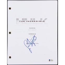 "Lou Ferrigno Signed ""The Incredible Hulk"" Movie Script (Beckett COA)"