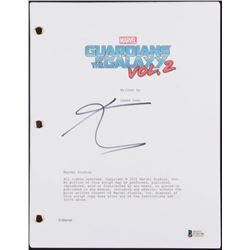 """Karen Gillan Signed """"Guardians of the Galaxy 2"""" Full Movie Script (Beckett COA)"""