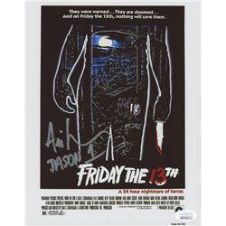 """Ari Lehman Signed """"Friday the 13th"""" 8x10 Photo Inscribed """"Jason 1"""" (JSA COA)"""