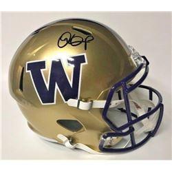 Dante Pettis Signed Washington Huskies Full-Size Speed Helmet (JSA COA)