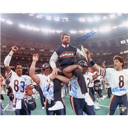 1985-86 Bears Super Bowl XX 16x20 Photo Signed by (5) with Mike Ditka, Willie Gault, William Perry,