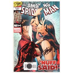 "Stan Lee Signed 2008 ""The Amazing Spider-Man"" Issue #545 Direct Edition Marvel Comic Book (Lee COA)"