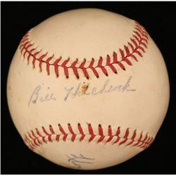 Lloyd Merriman  Billy Hitchock Signed OAL Baseball (JSA Hologram)
