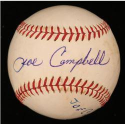 Joe Campbell Signed OL Baseball (JSA COA)