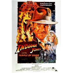 "Harrison Ford Signed ""Indiana Jones: Temple of Doom"" 27x40 Poster (Radtke COA)"
