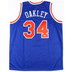 "Charles Oakley Signed New York Knicks ""Oak Tree""Jersey (PSA COA)"