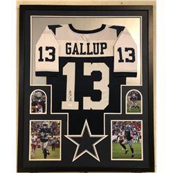 Michael Gallup Signed Dallas Cowboys 34x42 Custom Framed Jersey Display (JSA COA)