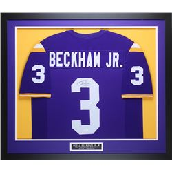Odell Beckham Jr. Signed LSU Tigers 35x43 Custom Framed Jersey (JSA COA)
