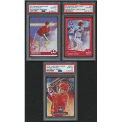 Lot of (3) PSA Graded 10 Shohei Ohtani Baseball Cards with 2018 Diamond Kings Gallery of Stars #11,