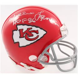 "Willie Lanier Signed Kansas City Chiefs Mini-Helmet Inscribed ""HOF 86"" (JSA COA)"