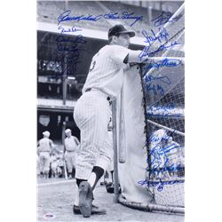 New York Yankees 12x18 Photo Team-Signed by (19) With Reggie Jackson, Goose Gossage, Bucky Dent, Spa