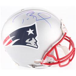 Tom Brady Signed New England Patriots Full-Size On-Field Helmet (Tristar Hologram)