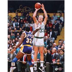Larry Bird Signed Boston Celtics 16x20 Photo (AI Verified COA  Bird Hologram)