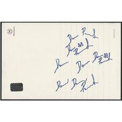 David Pastrnak Signed Signature Practice Sheet (Pastrnak Hologram)