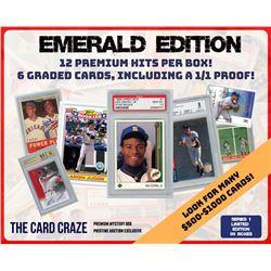 "The Card Craze ""Emerald Edition"" Premium Baseball Card Mystery Box"