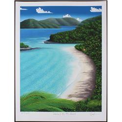 "Dan Mackin - ""Dancing on the Beach"" Signed Limited Edition 19x25 Fine Art Giclee #/275 (Mackin COA"