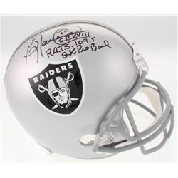 "Greg Townsend Signed Los Angeles Raiders Full-Size Helmet Inscribed ""S.B. XVIII,"" ""R.A.T.S. 109.5"""