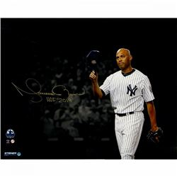 "Mariano Rivera Signed New York Yankees ""Hat Tip"" 16x20 Photo Inscribed ""HOF 2019"" (Steiner COA)"
