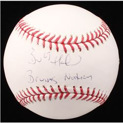 "Brad Marchand Signed OML Baseball Inscribed ""Bruins Nation"" (Marchand COA)"