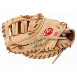 "Lars Anderson Signed Game Used Rawlings Baseball Glove Inscribed ""Game Worn"" (YSMS COA)"