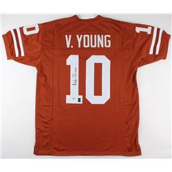 "Vince Young Signed Texas Longhorns Jersey Inscribed ""2005 Nat'l Champs"" (Beckett COA  Young Hologram"