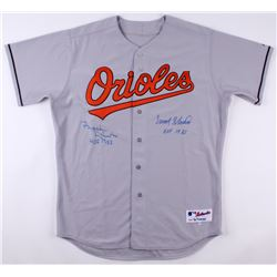 "Frank Robinson  Brooks Robinson Signed Baltimore Orioles Jersey Inscribed ""HOF 1982""  ""HOF 1983"" (PS"