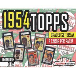 1954 Topps BASEBALL COMPLETE SET BREAK! - Mystery Box - (2) SGC or PSA GRADED Cards Per Pack!