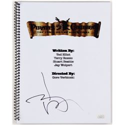 """Johnny Depp Signed """"Pirates of the Caribbean: The Curse of the Black Pearl"""" Movie Script (JSA Hologr"""