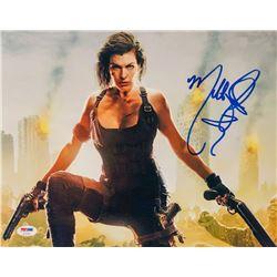 "Milla Jovovich Signed ""Resident Evil: The Final Chapter"" 11x14 Photo (PSA COA)"