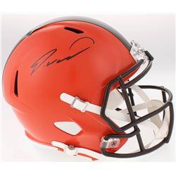 Denzel Ward Signed Cleveland Browns Full-Size Speed Helmet (JSA COA)