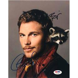 "Chris Pratt  Bradley Cooper Signed ""Guardians of the Galaxy"" 8x10 Photo (PSA COA)"